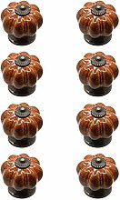 Cabinet knobs,Ceramic Single Hole Handle Pumpkin