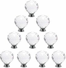 Cabinet Knobs Clear Crystal Glass Door Knobs