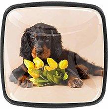 Cabinet Knobs Dog And Tulips Dresser Drawer Knobs