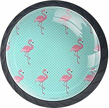 Cabinet Knobs Flamingos Knobs for Dresser Drawers