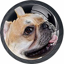 Cabinet Knobs French Bulldog Happy Smile Knobs for