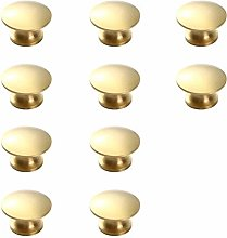 Cabinet knobs,Golden Simple Brass Handle 10
