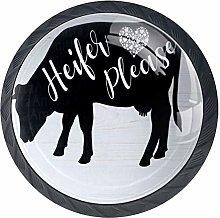Cabinet Knobs Heifer Please Cow Design Knobs for