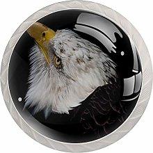 Cabinet Knobs Pulls Animal Eagle Round Crystal