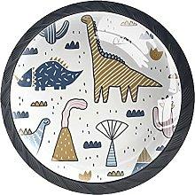 Cabinet Knobs Pulls Dinosaur Background Round