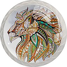 Cabinet Knobs Pulls Dragon Round Crystal Glass