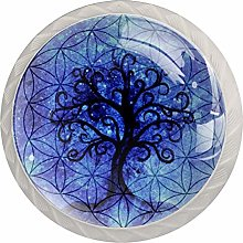 Cabinet Knobs Pulls Dream Tree Round Crystal Glass