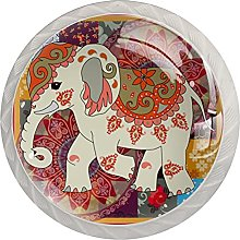 Cabinet Knobs Pulls Elephant Round Crystal Glass