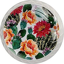 Cabinet Knobs Pulls Flowers Round Crystal Glass