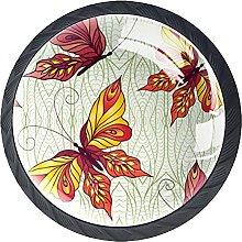 Cabinet Knobs Pulls Maple Flower Round Crystal
