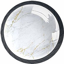 Cabinet Knobs Pulls Marble Round Crystal Glass