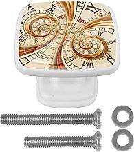 Cabinet Knobs Pulls Old Clock Watch Clock Door