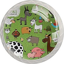 Cabinet Knobs Pulls Pasture Animals Round Crystal