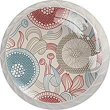 Cabinet Knobs Pulls Round Flower、 Round Crystal