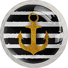 Cabinet Knobs Pulls Sailing Stripe Round Crystal