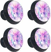 Cabinet Knobs Purple Nebula Knobs for Dresser