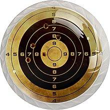 Cabinet Knobs Retro Gun Target Drawer Knobs Round