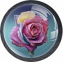 Cabinet Knobs Rose Bloom Knobs for Dresser Drawers