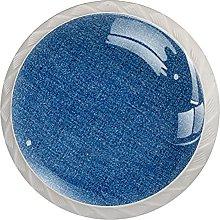 Cabinet Knobs Round Drawer Pulls 4 pcs Linen
