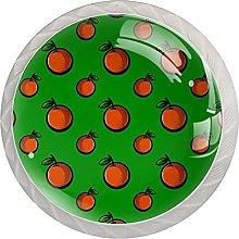 Cabinet Knobs Round Drawer Pulls 4 pcs Orange