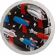 Cabinet Knobs Round Drawer Pulls 4 pcs Toy Gun