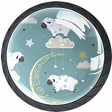 Cabinet Knobs Sheep Cloud Drawer Pulls Aesthetic