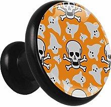 Cabinet knobs Skull Orange Halloween Cupboard