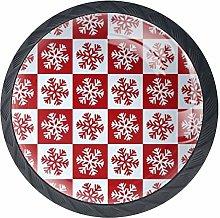 Cabinet Knobs Snowflake Pattern Knobs for Dresser