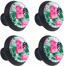 Cabinet Knobs Watermelons Tropical Palm Leaves