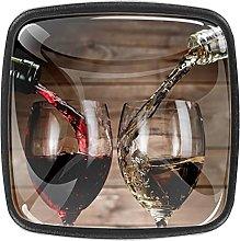 Cabinet Knobs,Wine Drinks with Glass Bottles,Door