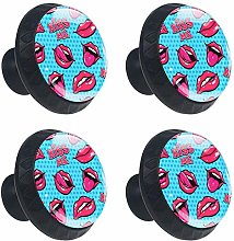 Cabinet Knobs Women Lips with Kiss Knobs for