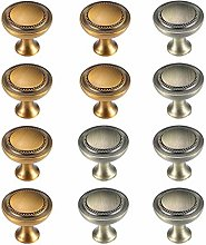 Cabinet knobs,zinc Alloy Round Handle 12 Packs