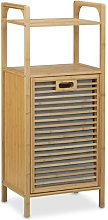 Cabinet Laundry Bin with Shelf August Grove