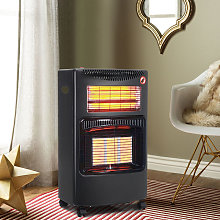 Cabinet Mobile Gas Heater Room Indoor Portable