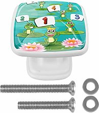 Cabinet Pull Counting Numbers with Green Frogs 4