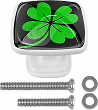 Cabinet Pull Lucky Irish Clover Shamrock Leafs for