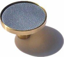 Cabinet Pulls 6Pcs Brass Leather Handles Furniture