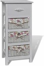 Cabinet with 1 Drawer and 3 Baskets White