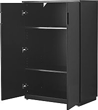 Cabinet With Doors 3 Shelves Storage Filing