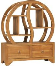 Cabinet with Yin Yang Shelf 68x26x83 cm Solid Teak