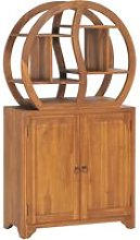 Cabinet with Yin Yang Shelf 70x30x130 cm Solid