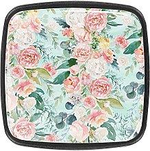 Cabinets Hardware Square Handles Vintage Pink Rose