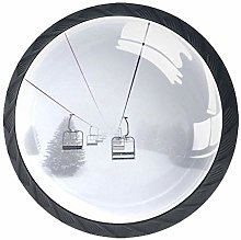 Cable Car Crystal Drawer Handles Furniture Glass
