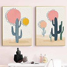 Cacti Abstract Print Mid Century Modern Wall Art