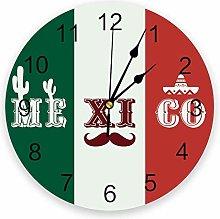 Cactus Beard Silent Non Ticking Wall Clock,