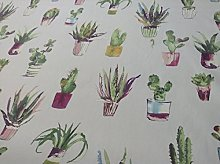 Cactus Jewel Grey Cotton Prestigious Textiles