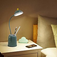 Cactus LED Desk Lamp, Reading Light with Pen