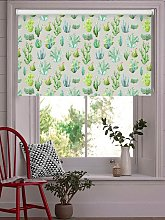 Cactus Light Grey Floral Roller Blind