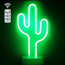 Cactus Neon Light, Remote Control LED Neon Signs,