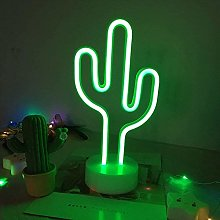 Cactus Night Light Led Neon Signs with Base, Neon
